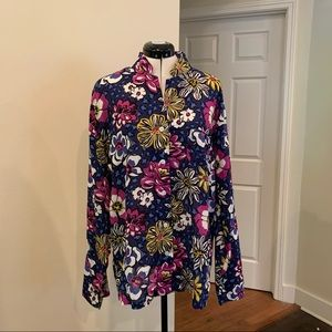 Vera Bradly African Violet Button Down Tunic, XL